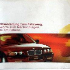 Coches y Motocicletas: MANUAL INSTRUCCIONES ORIGINAL BMW. AÑO 1999. 316I, 318I, 320I, 323I, 328I, 320D, 330D. IDIOMA: ALEM. Lote 82030292