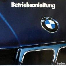 Coches y Motocicletas: MANUAL INSTRUCCIONES ORIGINAL BMW. AÑO 1988.- 520I, 525I, 530I, 535I, 524TD. IDIOMA: ALEMÁN.. Lote 82030692