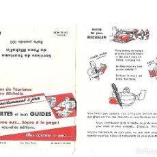 Coches y Motocicletas: ANTIGUO SOBRE PUBLICITARIO DE LAS GUIAS MICHELIN. PUBLICIDAD. SIN USAR.. Lote 82285788