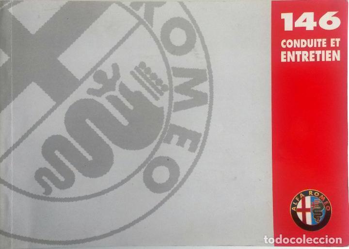 MANUAL INSTRUCCIONES ORIGINAL ALFA ROMEO - ALFA 146. IDIOMA: FRANCÉS. (Coches y Motocicletas Antiguas y Clásicas - Catálogos, Publicidad y Libros de mecánica)