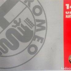 Coches y Motocicletas: MANUAL INSTRUCCIONES ORIGINAL ALFA ROMEO - ALFA 145.. Lote 82327372