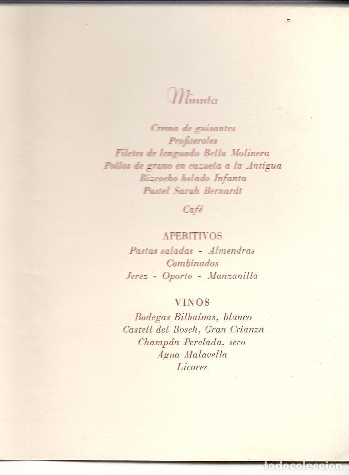 Coches y Motocicletas: 1951.COCHE PEGASO-ENASA.MINUTA CENA HOMENAJE WIFREDO RICART. CONSEJERO. - Foto 2 - 82645312