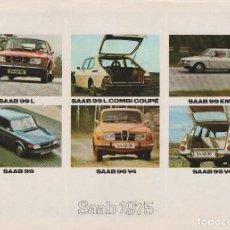 Coches y Motocicletas: CATÁLOGO ORIGINAL GAMA SAAB 1975 EN FRANCÉS . Lote 82645508