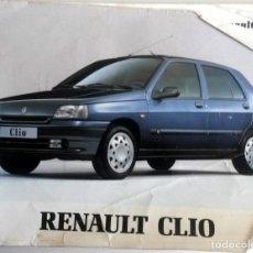 Coches y Motocicletas: MANUAL INSTRUCCIONES ORIGINAL RENAULT CLIO - AÑO 1995. . Lote 82645892