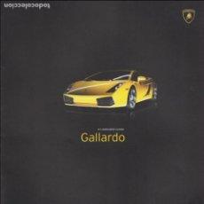 Coches y Motocicletas: CATÁLOGO ORIGINAL LAMBORGHINI GALLARDO. Lote 82646000