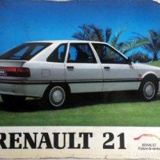 Coches y Motocicletas: MANUAL INSTRUCCIONES ORIGINAL RENAULT 21 - AÑO 1990. . Lote 82646800