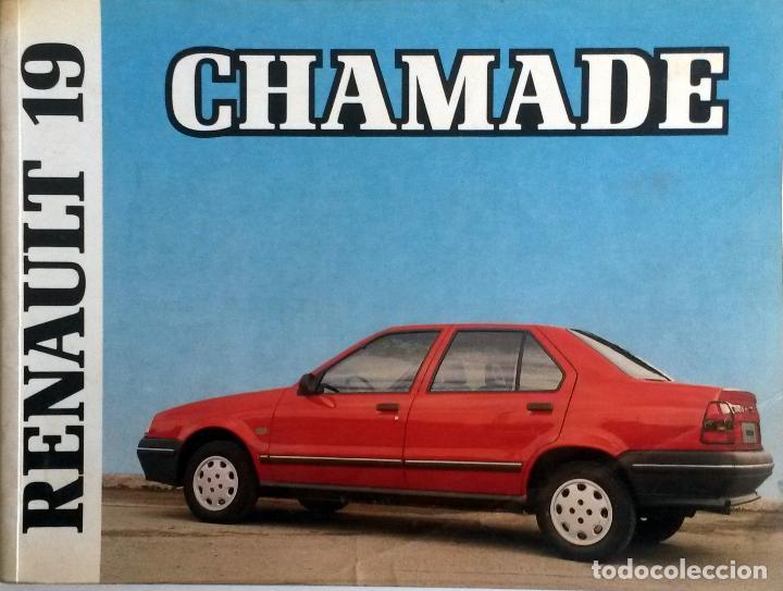 MANUAL INSTRUCCIONES ORIGINAL RENAULT 19 CHAMADE - AÑO 1989. (Coches y Motocicletas Antiguas y Clásicas - Catálogos, Publicidad y Libros de mecánica)