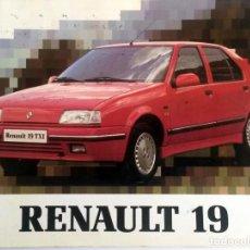 Coches y Motocicletas: MANUAL INSTRUCCIONES ORIGINAL RENAULT 19 TXI - AÑO 1991.. Lote 82649164