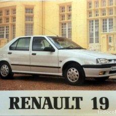 Coches y Motocicletas: MANUAL INSTRUCCIONES ORIGINAL RENAULT 19 - AÑO 1992.. Lote 82649500