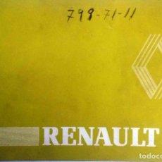 Coches y Motocicletas: MANUAL INSTRUCCIONES ORIGINAL RENAULT 6 - AÑO 1981.. Lote 82654132