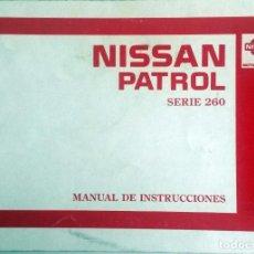 Coches y Motocicletas: CATÁLOGO ORIGINAL NISSAN PATROL - AÑO 1987.. Lote 82878064