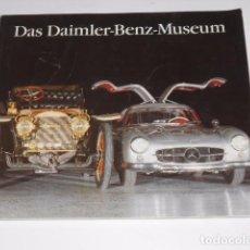 Coches y Motocicletas: AUTOMOVILISMO. CATALOGO MERCEDES BENZ: DAS DAIMLER-BENZ-MUSEUM. FOTOS DE MODELOS DE 1885 A 1970. Lote 82932820