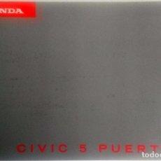 Coches y Motocicletas: CATÁLOGO ORIGINAL HONDA CIVIC 5 PUERTAS - AÑO 1996.. Lote 83309576