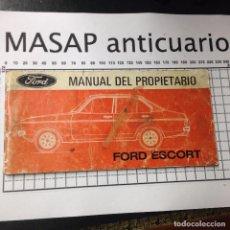 Coches y Motocicletas: MANUAL DE PROPIETARIO DEL FORD SCORT IMPRESO EN 1975. Lote 168263437