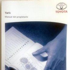 Coches y Motocicletas: CATÁLOGO ORIGINAL TOYOTA YARIS - AÑO 2008.. Lote 83474320