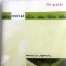 Coches y Motocicletas: CATÁLOGO ORIGINAL TOYOTA COROLLA - AÑO 2000.. Lote 83475496