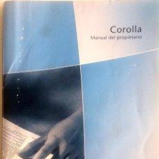Coches y Motocicletas: CATÁLOGO ORIGINAL TOYOTA COROLLA - AÑO 2002.. Lote 83475752