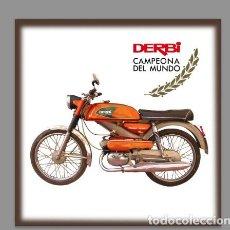 Coches y Motocicletas: AZULEJO 20X20 DE DERBI ANTORCHA. Lote 96937004