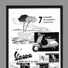 Coches y Motocicletas: AZULEJO 20X30 PUBLICIDAD VESPA. Lote 83763516
