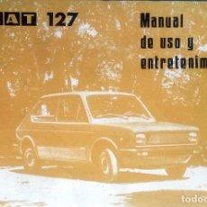Coches y Motocicletas: MANUAL INSTRUCCIONES ORIGINAL SEAT 127. AÑO 1978.. Lote 84042452