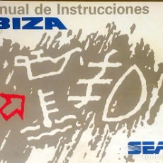 Coches y Motocicletas: MANUAL INSTRUCCIONES ORIGINAL SEAT IBIZA. AÑO 1993.. Lote 84052108