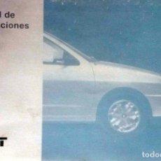 Coches y Motocicletas: MANUAL INSTRUCCIONES ORIGINAL SEAT IBIZA. AÑO 1996.. Lote 84052656