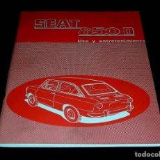Coches y Motocicletas: SEAT 850 D, MANUAL USO Y ENTRETENIMIENTO, 1ª EDICIÓN, 56 PÁGINAS, ORIGINAL AÑO 1972.. Lote 84139732