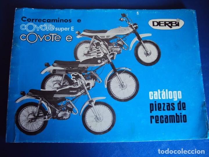 (CAT-170420)CATALOGO PIEZAS DE RECAMBIO DERBI COYOTE (Coches y Motocicletas Antiguas y Clásicas - Catálogos, Publicidad y Libros de mecánica)