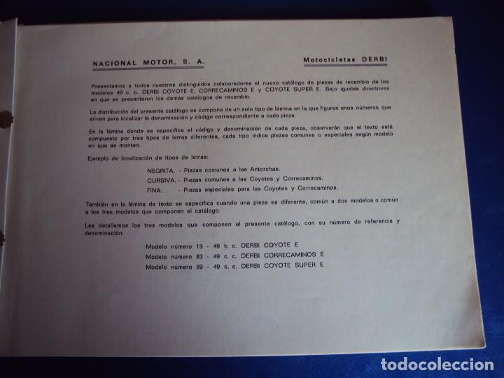 Coches y Motocicletas: (CAT-170420)CATALOGO PIEZAS DE RECAMBIO DERBI COYOTE - Foto 2 - 156013736