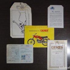 Coches y Motocicletas: DERBI - MANUAL, CERTIFICADO DE CICLOMOTOR Y VARIOS - 4V - MODELO G.T.. Lote 105939835