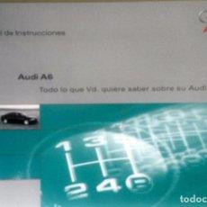 Coches y Motocicletas: MANUAL INSTRUCCIONES ORIGINAL AUDI A6. AÑO 1997. . Lote 84624188