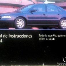 Coches y Motocicletas: MANUAL INSTRUCCIONES ORIGINAL AUDI A4. AÑO 1994.. Lote 84624916