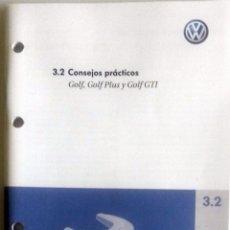 Coches y Motocicletas: MANUAL INSTRUCCIONES ORIGINAL VOLKSWAGEN GOLF, GOLF PLUS, GOLF GTI. SUPLEMENTO.. Lote 84629740