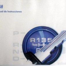 Coches y Motocicletas: MANUAL INSTRUCCIONES ORIGINAL VOLKSWAGEN GOLF. AÑO 1996.. Lote 84634264