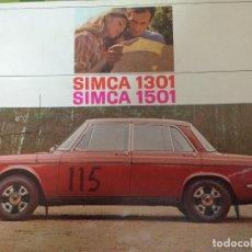 Coches y Motocicletas: RARO CATALOGO DEL SIMCA 1301 Y 1501, 12 PAGINAS. MUCHAS FOTOS Y DETALLES, IDIOMA HOLANDES. Lote 84634924