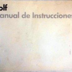 Coches y Motocicletas: MANUAL INSTRUCCIONES ORIGINAL VOLKSWAGEN GOLF. AÑO 1988.. Lote 84635128