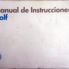 Coches y Motocicletas: MANUAL INSTRUCCIONES ORIGINAL VOLKSWAGEN GOLF. AÑO 1989.. Lote 84635324