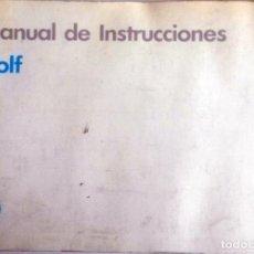 Coches y Motocicletas: MANUAL INSTRUCCIONES ORIGINAL VOLKSWAGEN GOLF. AÑO 1990.. Lote 84635580