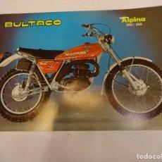 Coches y Motocicletas: BULTACO ALPINA 350/250. FOLLETO PUBLICIDAD ORIGINAL. IMPECABLE. Lote 84681584