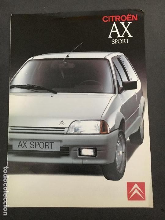 FOLLETO CATALOGO PUBLICIDAD ORIGINAL CITROEN AX SPORT 1990 CITROËN (Coches y Motocicletas Antiguas y Clásicas - Catálogos, Publicidad y Libros de mecánica)
