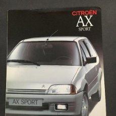 Coches y Motocicletas: FOLLETO CATALOGO PUBLICIDAD ORIGINAL CITROEN AX SPORT 1990 CITROËN. Lote 84792568