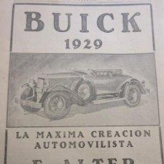 Coches y Motocicletas: PUBLICIDAD 1929 - COLECCION COCHES - BIUCK 1929 . Lote 85915752