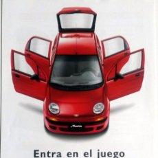 Coches y Motocicletas: CATÁLOGO ORIGINAL DAEWOO MATIZ. AÑO 2006.. Lote 86024616
