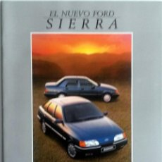 Coches y Motocicletas: CATÁLOGO ORIGINAL NUEVO FORD SIERRA. . Lote 86034440