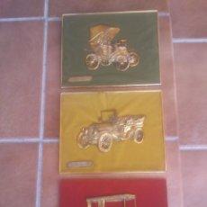 Coches y Motocicletas: ANTIGUO CONJUNTO COCHES DE EPOCA PEUGEOT FIAT MERCEDES. Lote 234056240