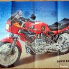 Coches y Motocicletas: POSTER ORIGINAL BMW K 75. . Lote 86564868