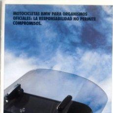 Coches y Motocicletas: CATÁLOGO ORIGINAL MOTOCICLETAS BMW PARA ORGANISMOS OFICIALES. AÑO 1992.. Lote 86565216