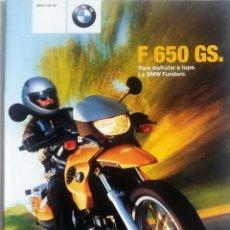 Coches y Motocicletas: CATÁLOGO ORIGINAL BMW F 650 GS. AÑO 2001.. Lote 86568140