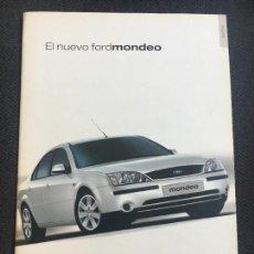Coches y Motocicletas: FOLLETO CATALOGO PUBLICIDAD ORIGINAL FORD MONDEO 2001. Lote 86717064