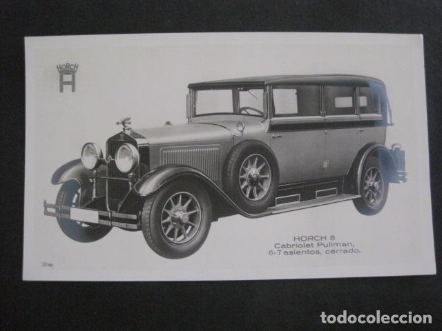 HORCH 8 - CABRIOLET PULLMAN -PEQUEÑO CARTEL -VER FOTOS-(V-11.079) (Coches y Motocicletas Antiguas y Clásicas - Catálogos, Publicidad y Libros de mecánica)